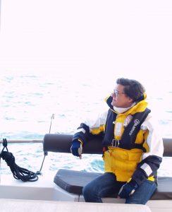 Der Blick über das Meer vor Warnemünde